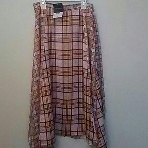 Topshop Mixed check skirt